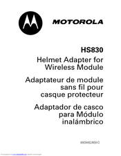 MOTOROLA HS830 HANSFREE Manual