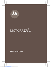 motorola motorazr v9 motorazr2 v9 manuals rh manualslib com Motorola RAZR2 Motorola RAZR2