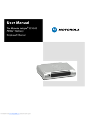 MOTOROLA 2210 - Netopia Residential Gateway Modem User Manual