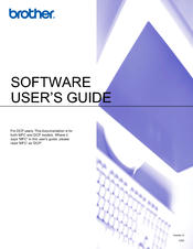 Brother DCP-395CN Software User's Manual