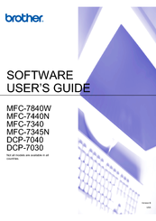 Brother BRT-MFC-7840W - NETWORK READY Software User's Manual
