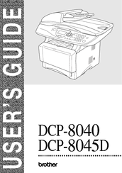Brother DCP-8045D User Manual