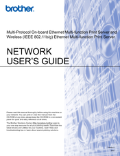 Brother DCP-395CN Network Manual