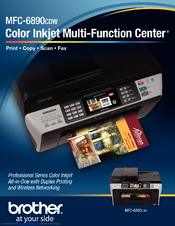 Brother MFC-6890CDW - Color Inkjet - All-in-One Specifications