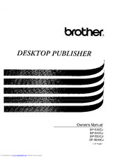 Brother DP-540CJ Owner's Manual