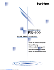 Brother PR-600C Quick Reference Manual