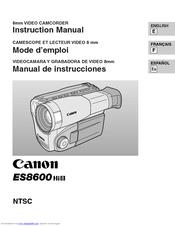 Canon ES8600 - Hi8 Camcorder With 2 5