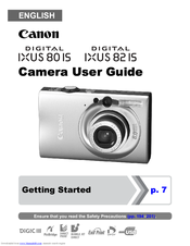 canon ixus 80 is getting started pdf download rh manualslib com canon ixus 80 is user manual