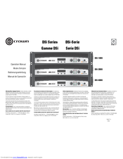 crown dsi 2000 service manual