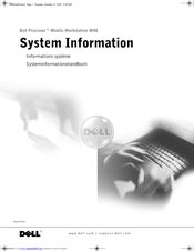 Dell Precision M40 System Information Manual