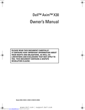 Dell Axim X30 Owner's Manual