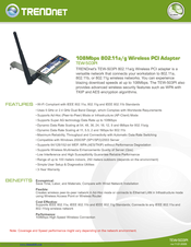 TRENDnet TEW-503PI A Wireless Network Adapter Driver