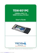 TRENDNET TEW-601PC WIRELESS NETWORK ADAPTER DESCARGAR CONTROLADOR