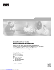 Cisco 1601 - Router - EN Hardware Installation Manual