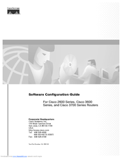 Cisco 3600 Series Software Configuration Manual