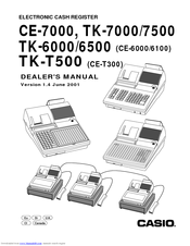 CASIO TK-7500 Dealer's Manual