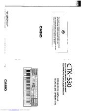 casio ctk 530 manuals rh manualslib com Casio Ctk 531 Casio Ctk 531