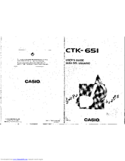CASIO CTK-651 User Manual