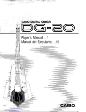 CASIO DG-20 Player's Manual