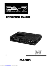 CASIO DA-7 Instruction Manual