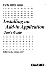 CASIO Add-in Application User Manual