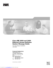 Cisco 2431 - IAD Router System Message Manual