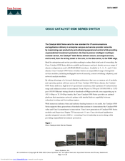 Cisco 6503 - Catalyst Firewall Security Sys Datasheet