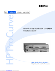 HP ProCurve 2424M Installation Manual