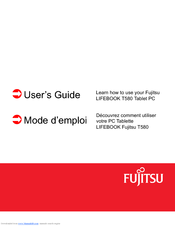 Fujitsu Lifebook T580 User Manual
