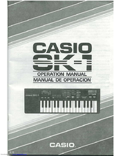 casio sk 1 manuals rh manualslib com Casio SK-1 Keyboard Power Supply Casio SK-1