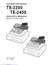 CASIO TE-2200 Dealer's Manual