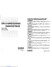 Casio DR-270HD User Manual