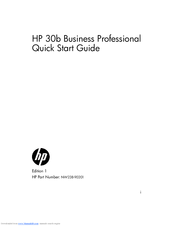 HP 30b Business Professional Quick Start Manual