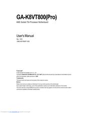 Gigabyte GA-8VT800 F6g beta Drivers