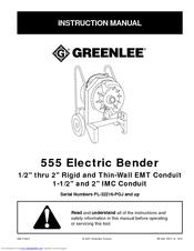 greenlee 555 instruction manual pdf download rh manualslib com greenlee 555 bender service manual greenlee 555 sb manual