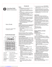 HP CalcPad 200 User Manual