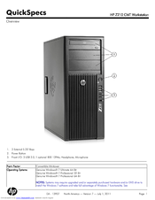 HP Workstation Z210 CMT Specifications
