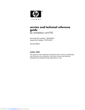 HP Workstation xw4100 Service And Technical Reference Manual