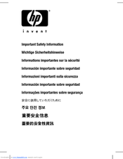 HP iPAQ hx4700 Safety Information Manual