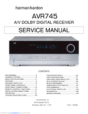 harman kardon avr 745 manuals rh manualslib com Parts Manual Manual Book