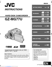 jvc gz mg77u everio camcorder 2 18 mp manuals rh manualslib com JVC GZ- MS120RU Wont Power On JVC Model GZ -MG630AU