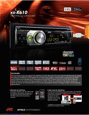 jvc kd r610 manuals rh manualslib com JVC CD Reciever Model No. KD S12 JVC CD Reciever Model No. KD S12