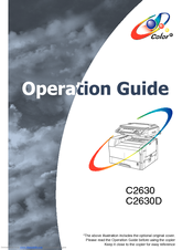 Kyocera KM-C2630D Operation Manual