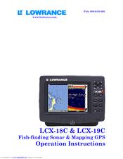 Gps lowrance lcx-18c user manual.