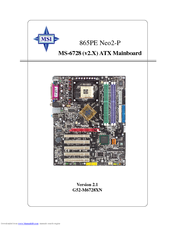 MSI MS-6728 User Manual