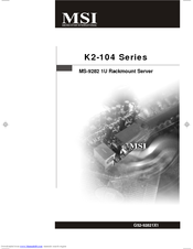MSI MS-9282 User Manual