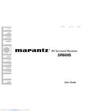 MARANTZ SR6005 USER MANUAL Pdf Download