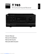 nad t785 manuals rh manualslib com Online User Guide User Guide Template