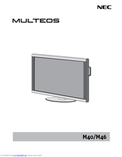 nec multeos m46 manuals rh manualslib com Flat Screen TV On Wall 60 Inch Flat Screen TV