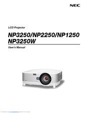 nec np2250 series manuals rh manualslib com NEC NP1000 Projector Manual NEC Projector